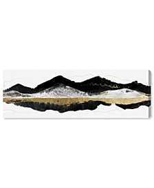 Noir et Gold Mountains Canvas Art Collection