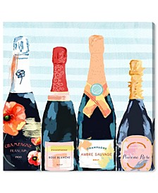 Champagne Flower Canvas Art Collection