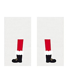 Santa Boots Kitchen Towel, Set of 2