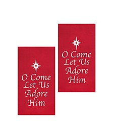 O Come Let Us Adore Him Kitchen Towel, Set of 2