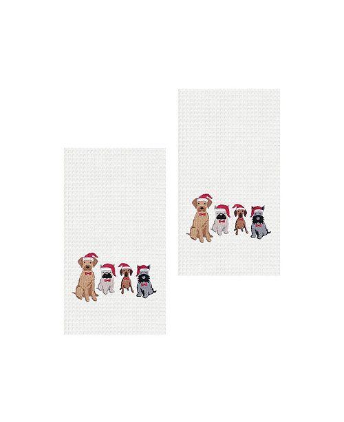 C&F Home Dog Santa Hats Kitchen Towel, Set of 2