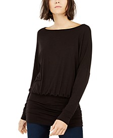 INC Ruched Dolman-Sleeve Top, Created For Macy's