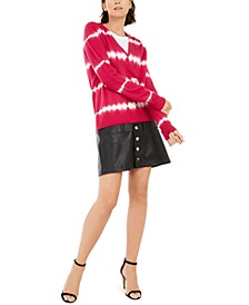 INC Cashmere Tie-Dyed Sweater & Faux-Leather Skirt, Created For Macy's
