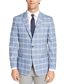 Men's Modern-Fit THFlex Stretch Windowpane Sport Coat