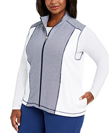 Plus Size Road Trip Zip-Front Vest