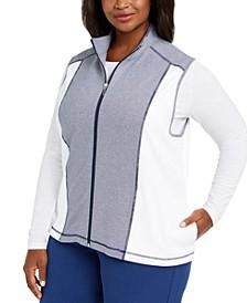 Plus Size Road Trip Zip-Front Vest