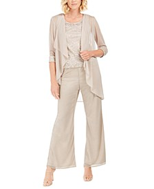 3-Pc. Embellished Pantsuit
