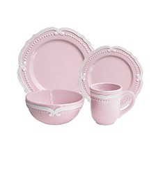 Jay Imports Victoria Blush 16 Pc Dinnerware Set