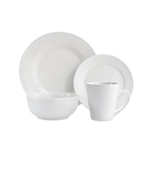 Jay Imports Juliette Porcelain 16 Pc Dinnerware Set