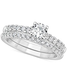 GIA Certified Diamond Bridal Set (1 ct. t.w.) in 14k White Gold