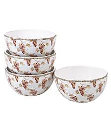 Tuscan Breeze 4-Pc. Ice Cream Bowls