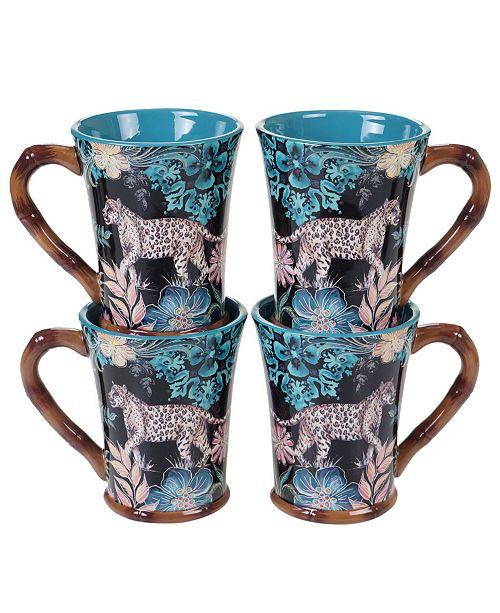 Certified International Exotic Jungle 4-Pc. Mugs