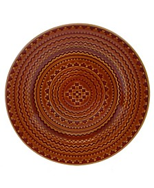 Aztec Rust Round Platter