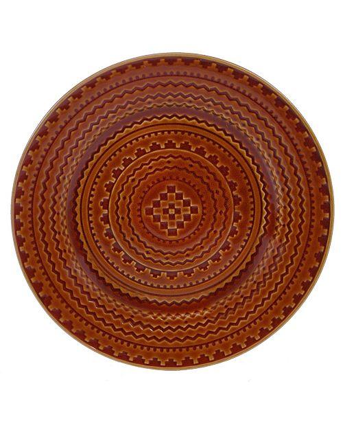Certified International Aztec Rust Round Platter