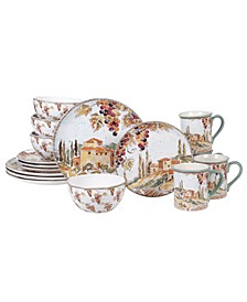 Tuscan Breeze 16-Pc. Dinnerware Set