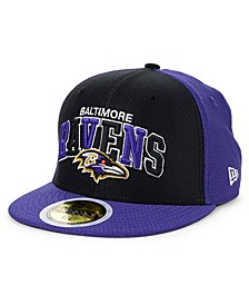 Boys' Baltimore Ravens On-Field Sideline Home 59FIFTY-FITTED Cap