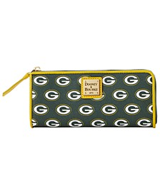 Green Bay Packers Saffiano Zip Clutch