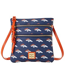 Denver Broncos Saffiano Triple Zip Crossbody
