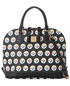 Pittsburgh Steelers Saffiano Zip Satchel