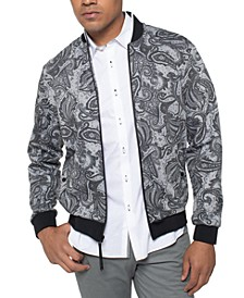 Men's Paisley Bomber Jacket