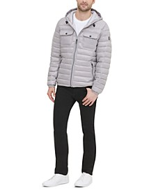 Men's Quilted Hooded Packable Jacket