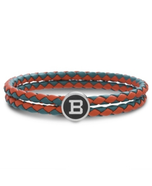 Ben Sherman Braided Leather Double Stranded Station