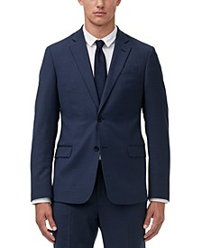 Armani Exchange Men's Modern-Fit Birdseye Suit Jacket Separate