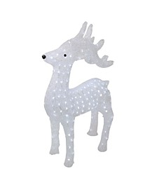"28.5"" Lighted Commercial Grade Acrylic Reindeer Christmas Display Decoration"