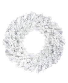 "30"" White Canadian Pine Artificial Christmas Wreath - Unlit"