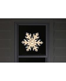 "20"" Lighted Snowflake Christmas Window Silhouette Decoration"