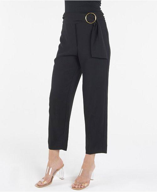 nanette Nanette Lepore Ankle Pant with O-Ring Belt