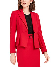 Crepe Peplum Blazer, Created For Macy's