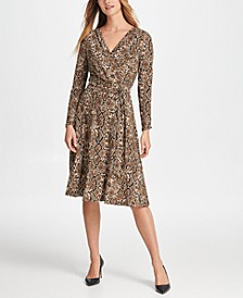 Python Jersey Wrap Dress