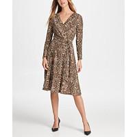 DKNY Python Jersey Wrap Dress