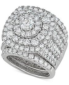 3-Pc. Diamond Multi-Halo Cluster Bridal Set (5-3/8 ct. t.w.) in 14k White Gold