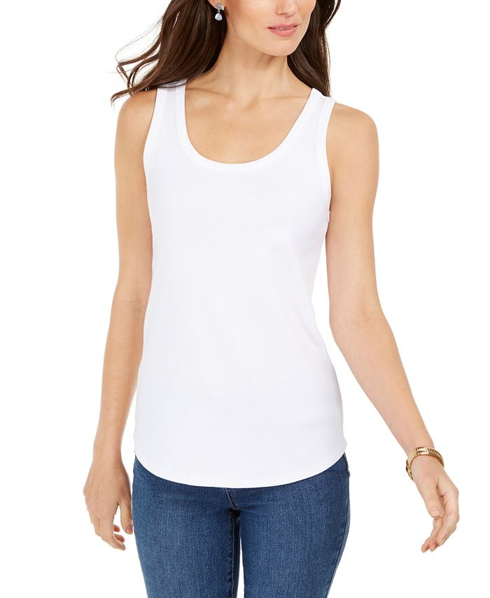 Charter Club - Scoop-Neck Tank Top, Created For Macy's