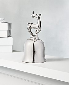 Shine Bright Silver Reindeer Dinner Bell, Created for Macy's