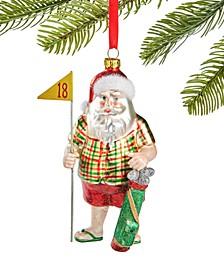 Sports Golf Santa Ornament