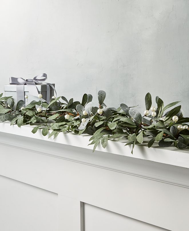 Martha Stewart Collection Martha Stewart Silver Woods Mistletoe Garland
