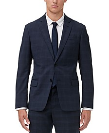 Men's Modern-Fit Windowpane Suit Jacket Separate