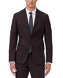 Men's Modern-Fit Burgundy Suit Jacket Separate