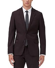 Men's Slim-Fit Burgundy Suit Jacket Separate