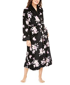 Women's Plush Floral-Print Robe, Created For Macy's