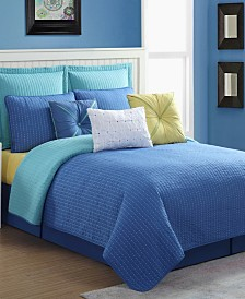 Fiesta Dash Reversible 3-Piece Quilt Set - Full/Queen