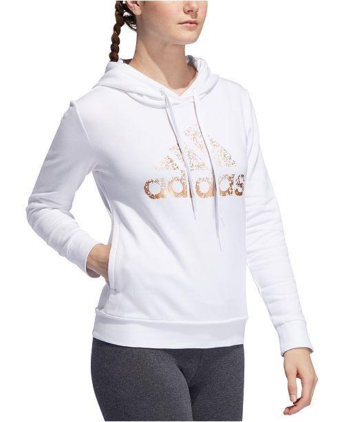 adidas Women's Metallic Logo Hoodie