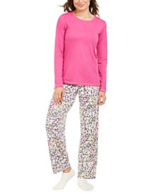 Printed T-Shirt & Plaid Pajama Pants Set, Online Only