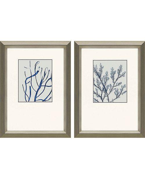 "Paragon Indigo Coral II Framed Wall Art Set of 2, 25"" x 19"""
