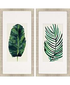 "Palm Leaves II Framed Wall Art Set of 2, 43"" x 21"""