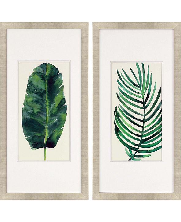 "Paragon Palm Leaves II Framed Wall Art Set of 2, 43"" x 21"""