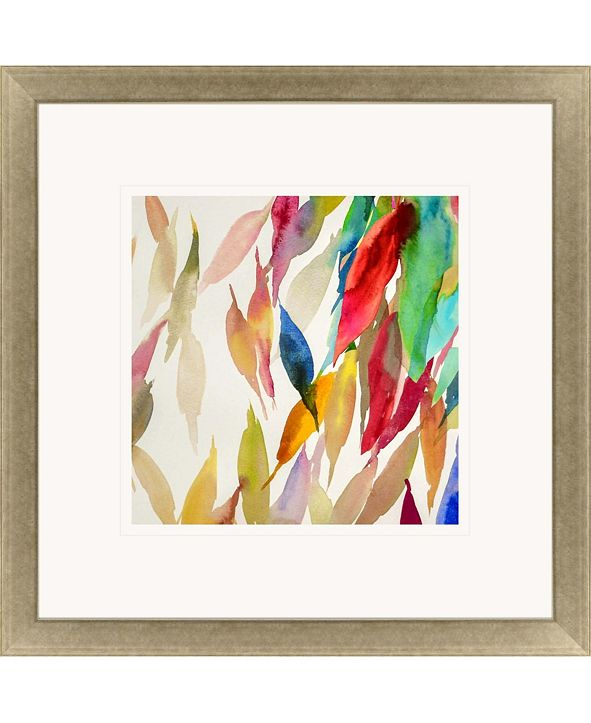 "Paragon Fallen Colorful Leaves II Framed Wall Art, 43"" x 43"""